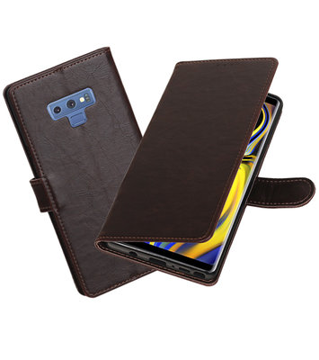 Hoesje voor Galaxy Note 9 Pull-Up Booktype Mocca