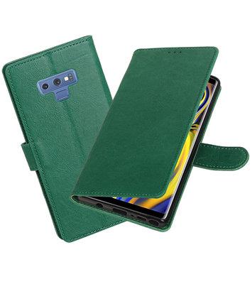 Hoesje voor Galaxy Note 9 Pull-Up Booktype Groen