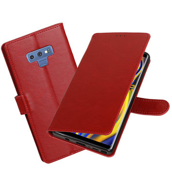 Hoesje voor Galaxy Note 9 Pull-Up Booktype Rood