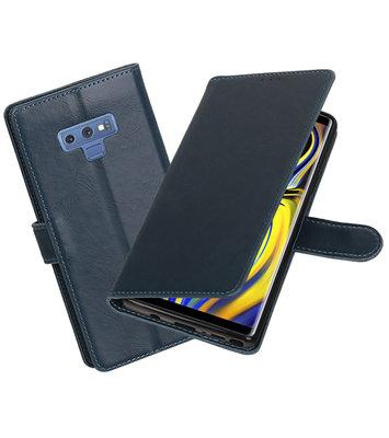Hoesje voor Galaxy Note 9 Pull-Up Booktype Blauw