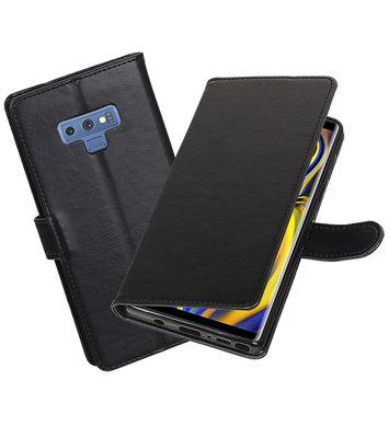 Hoesje voor Galaxy Note 9 Pull-Up Booktype Zwart