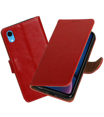 Hoesje voor iPhone XR Pull-Up Booktype Rood