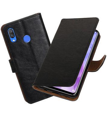 Hoesje voor Huawei Nova 3 Pull-Up Booktype Zwart