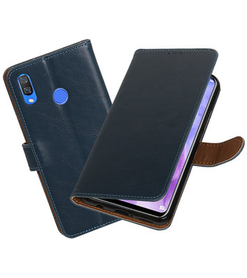 Hoesje voor Huawei Nova 3 Pull-Up Booktype Blauw