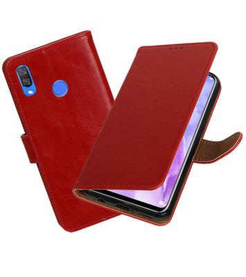 Hoesje voor Huawei Nova 3 Pull-Up Booktype Rood