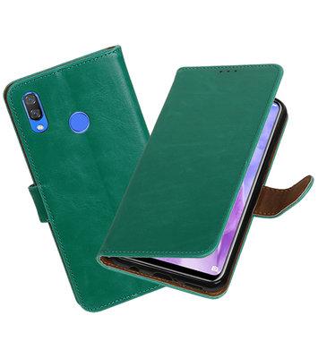 Hoesje voor Huawei Nova 3 Pull-Up Booktype Groen