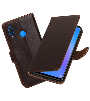 Hoesje voor Huawei P Smart Plus Pull-Up Booktype Mocca