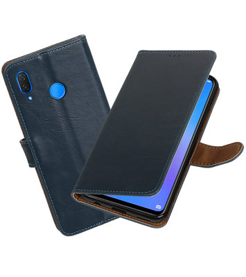 Hoesje voor Huawei P Smart Plus Pull-Up Booktype Blauw