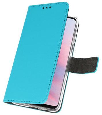 Wallet Cases Hoesje voor Huawei Y9 2019 Blauw