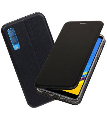 Slim Folio Case voor Samsung Galaxy A7 2018 Zwart