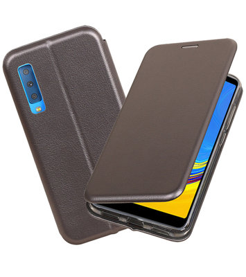 Slim Folio Case voor Samsung Galaxy A7 2018 Grijs