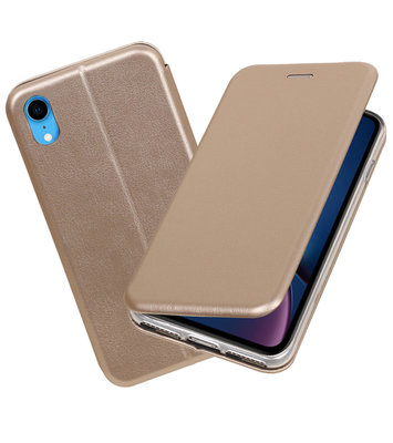 Slim Folio Case voor iPhone XR Goud