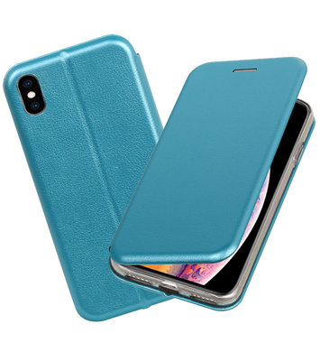 Slim Folio Case voor iPhone XS Max Blauw