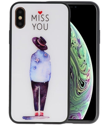 Print Hardcase voor iPhone XS Miss You