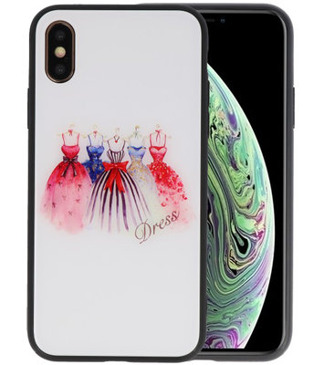 Print Hardcase voor iPhone XS Dress