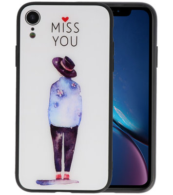 Print Hardcase voor iPhone XR Miss You