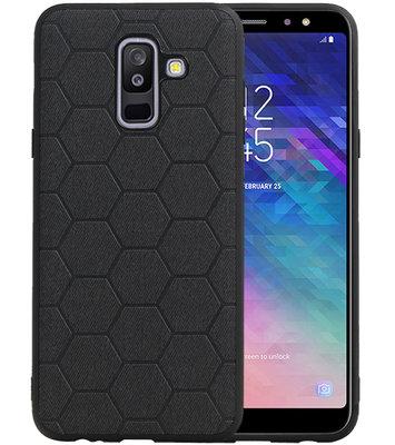 Hexagon Hard Case voor Samsung Galaxy A6 Plus 2018 Zwart