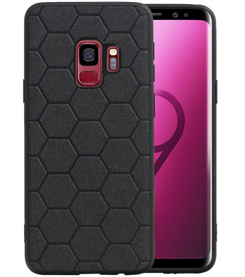 Hexagon Hard Case voor Samsung Galaxy S9 Zwart