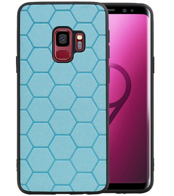 Hexagon Hard Case voor Samsung Galaxy S9 Blauw
