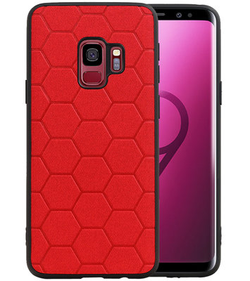 Hexagon Hard Case voor Samsung Galaxy S9 Rood