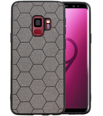 Hexagon Hard Case voor Samsung Galaxy S9 Grijs