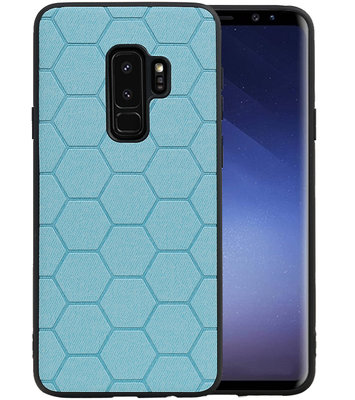 Hexagon Hard Case voor Samsung Galaxy S9 Plus Blauw