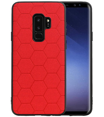 Hexagon Hard Case voor Samsung Galaxy S9 Plus Rood