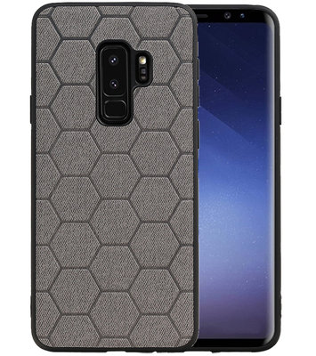 Hexagon Hard Case voor Samsung Galaxy S9 Plus Grijs