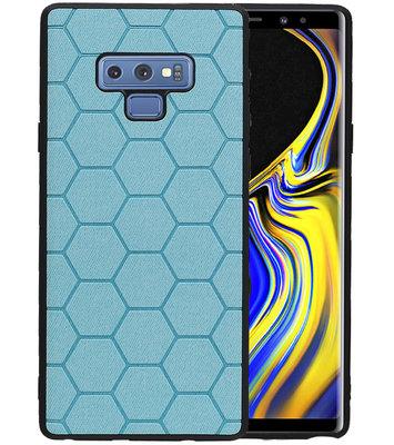 Hexagon Hard Case voor Samsung Galaxy Note 9 Blauw