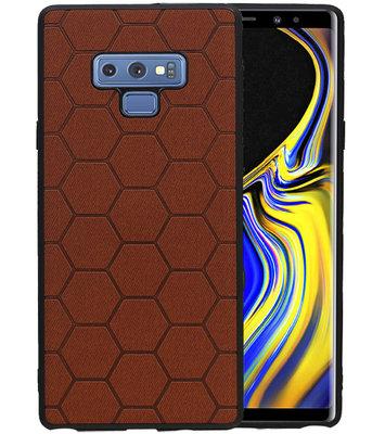Hexagon Hard Case voor Samsung Galaxy Note 9 Bruin