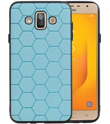 Hexagon Hard Case voor Samsung Galaxy J7 Duo J720F Blauw