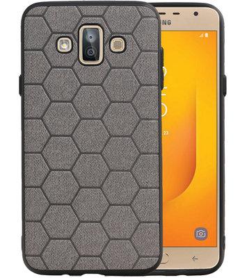 Hexagon Hard Case voor Samsung Galaxy J7 Duo J720F Grijs