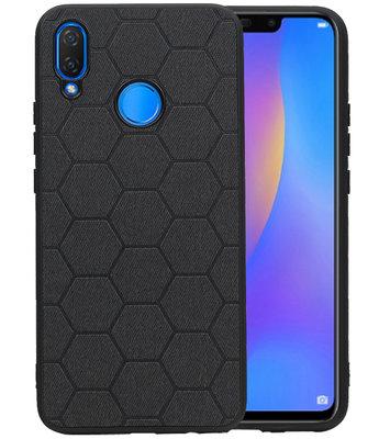 Hexagon Hard Case voor Huawei P Smart Plus Zwart