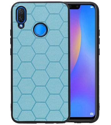 Hexagon Hard Case voor Huawei P Smart Plus Blauw