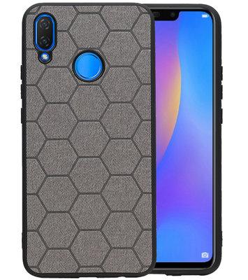 Hexagon Hard Case voor Huawei P Smart Plus Grijs