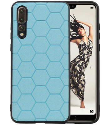 Hexagon Hard Case voor Huawei P20 Pro Blauw