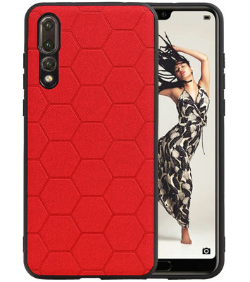 Hexagon Hard Case voor Huawei P20 Pro Rood