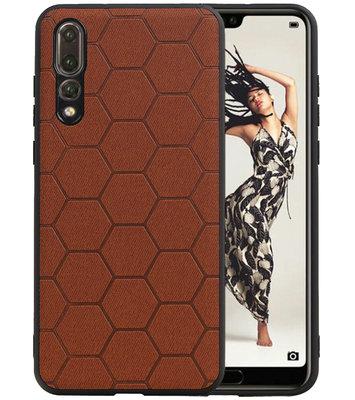 Hexagon Hard Case voor Huawei P20 Pro Bruin