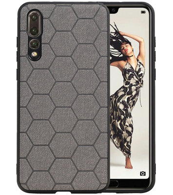 Hexagon Hard Case voor Huawei P20 Pro Grijs