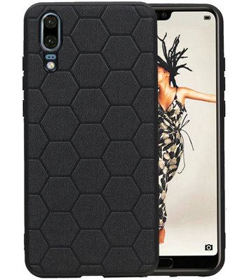 Hexagon Hard Case voor Huawei Mate 20 Zwart