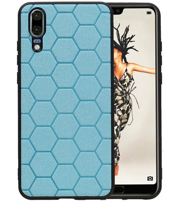 Hexagon Hard Case voor Huawei Mate 20 Blauw