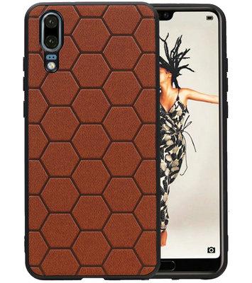 Hexagon Hard Case voor Huawei Mate 20 Bruin