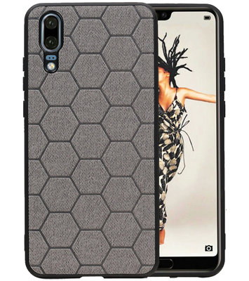 Hexagon Hard Case voor Huawei Mate 20 Grijs