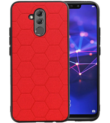 Hexagon Hard Case voor Huawei Mate 20 Lite Rood