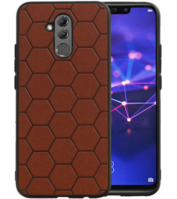 Hexagon Hard Case voor Huawei Mate 20 Lite Bruin