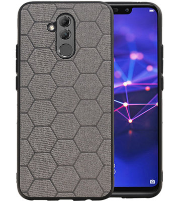 Hexagon Hard Case voor Huawei Mate 20 Lite Grijs