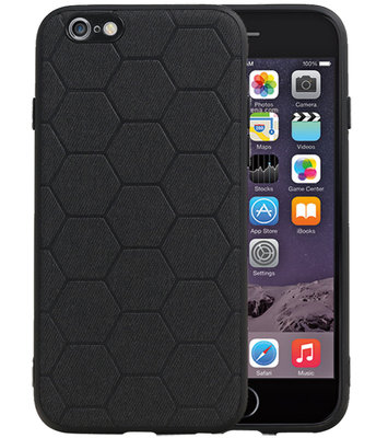 Hexagon Hard Case voor iPhone 6 / 6s Zwart