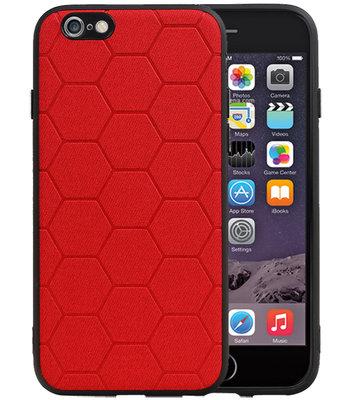 Hexagon Hard Case voor iPhone 6 / 6s Rood