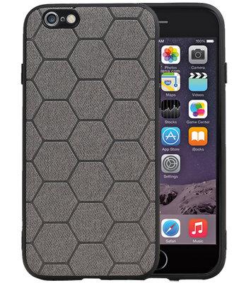 Hexagon Hard Case voor iPhone 6 / 6s Grijs