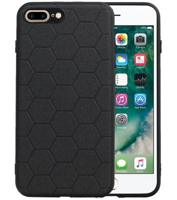 Hexagon Hard Case voor iPhone 8 Plus / iPhone 7 Plus Zwart